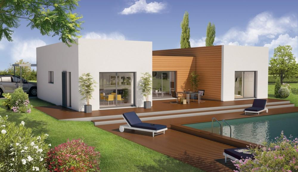 Demeures d 39 occitanie constructeur for Modele maison bois contemporaine