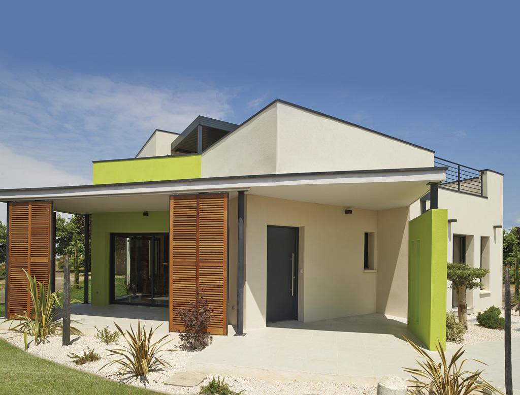Maisons à étage Maisons Contemporaines Plan Maison Toit Terrasse IGC  Construction ...