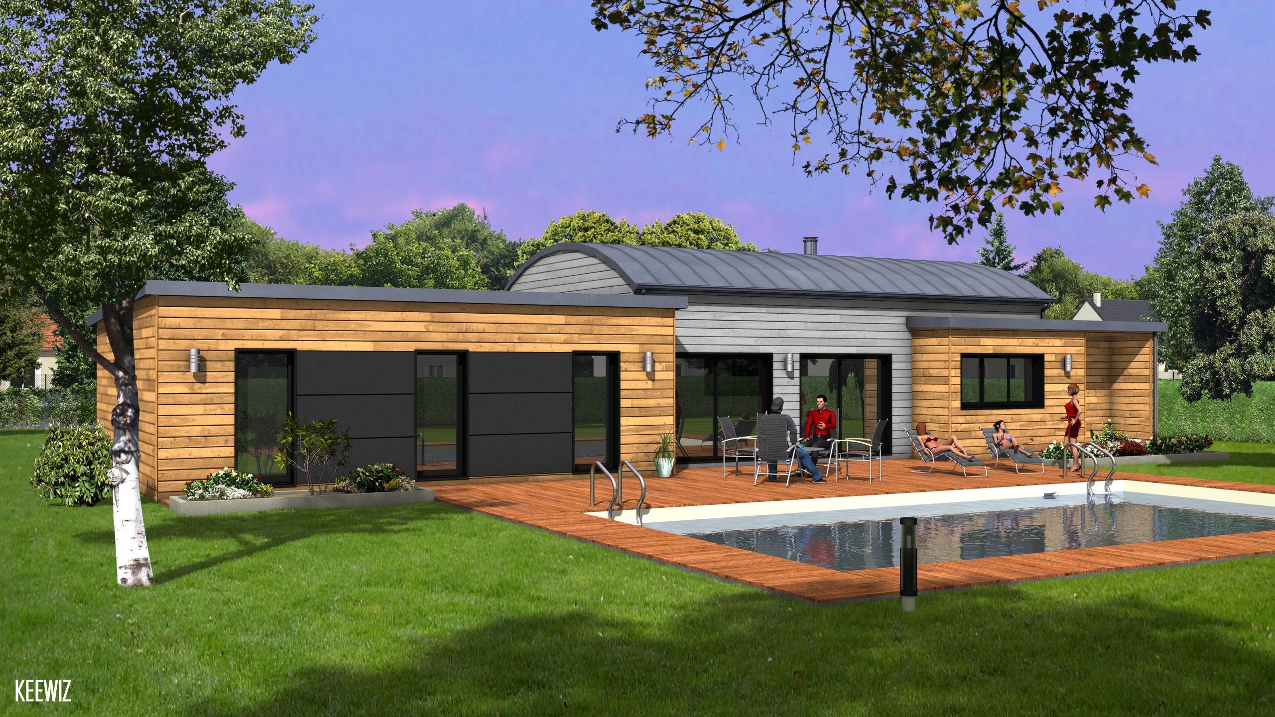 Logis de vend e constructeur maisons individuelles for Construction maison en bois vendee