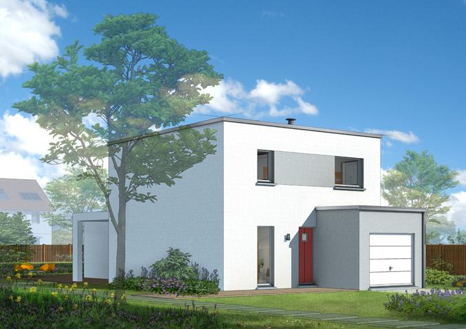 Maisons à étage Maisons contemporaines Maisons primo accédant Maisons à toit plat Plan maison toit terrasse Maison Castor
