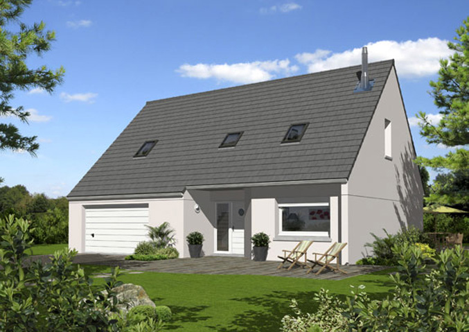 maisons de plain pied maisons primo accdant maisons avec combles maisons rgionales maison familiale - Modele Maison Cubique Plain Pied Lorraine