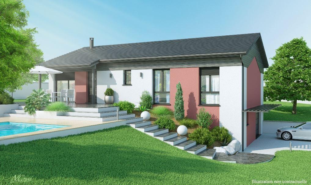 Maisons axial constructeur for Exemple amenagement exterieur maison