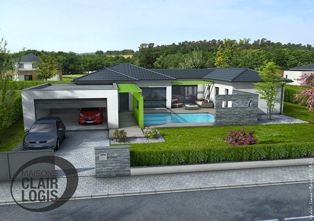 Maisons clair logis constructeur for Prix maison 4 chambres
