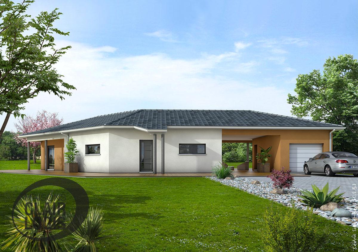 Maisons clair logis constructeur for Modele maison en l
