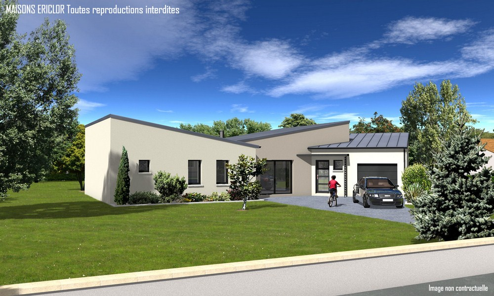 Maisons ericlor constructeur for Modele maison contemporaine plain pied
