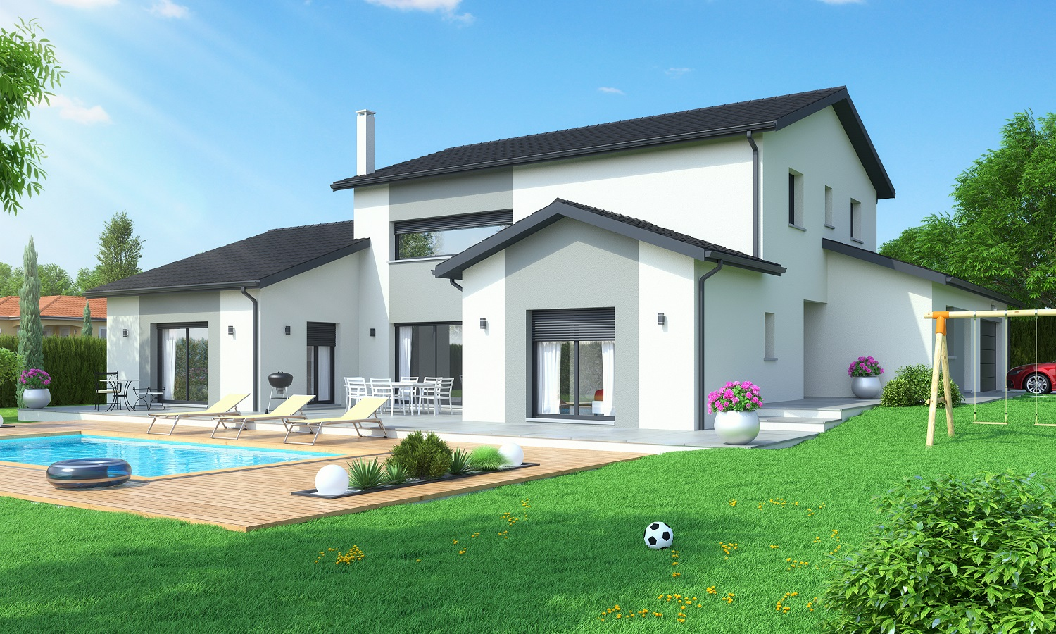 Maisons ideales constructeur for Construction contemporaine