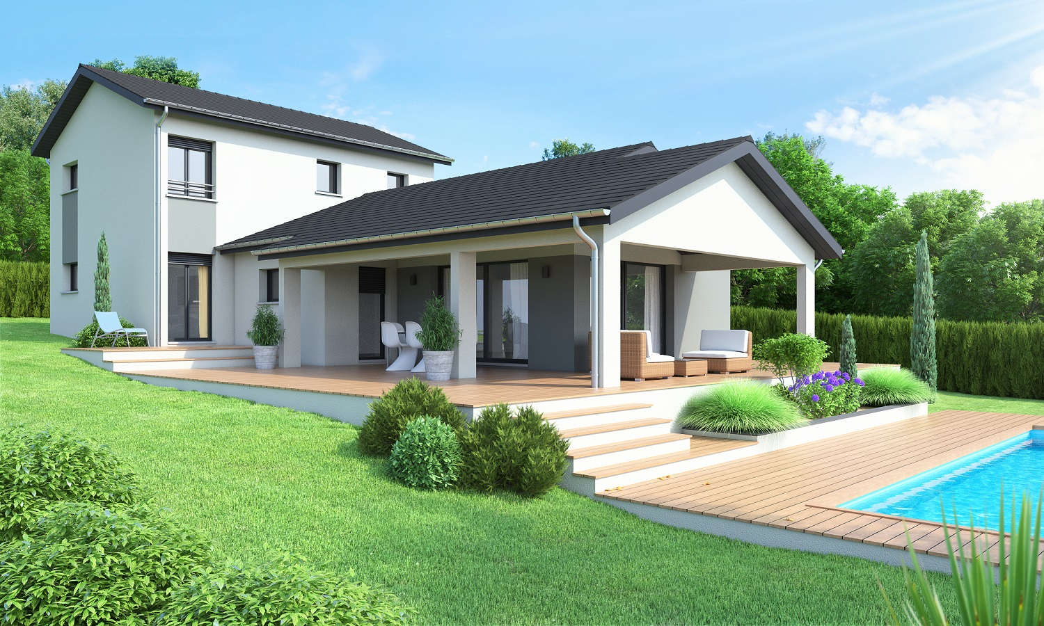 Maisons ideales constructeur for Modele de villa contemporaine