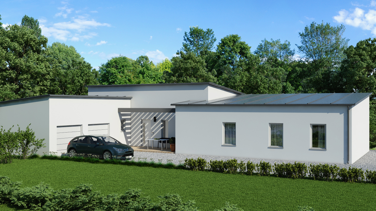 Maisons ideoz constructeur for Modele maison contemporaine plain pied