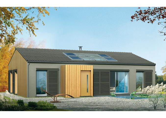 Maisons Bois Maisons De Plain Pied Maisons écologiques Maisons  Contemporaines Maisons Primo Accédant Maisons Avec Combles ...
