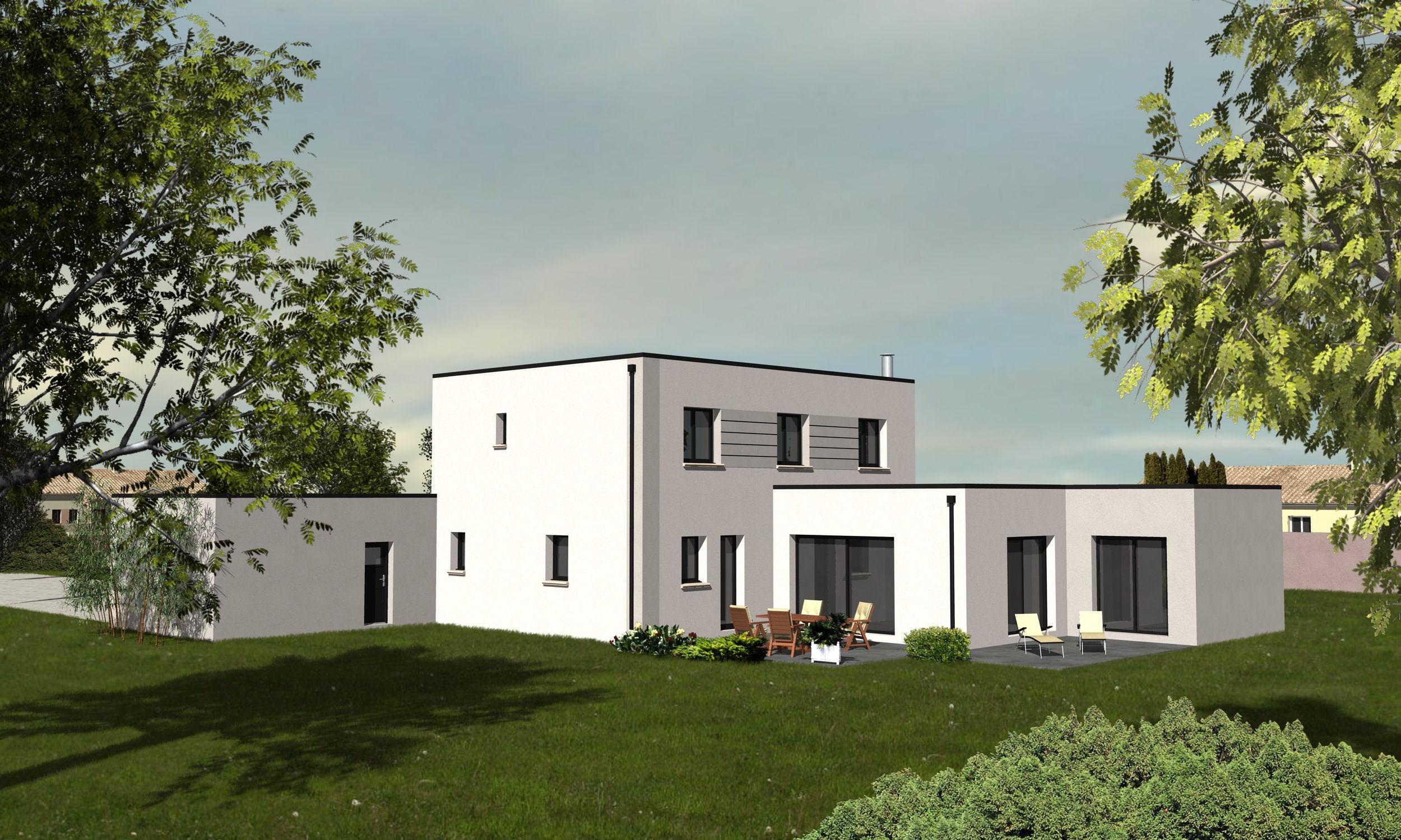 Maison moderne bordeaux for Constructeur maison individuelle dax
