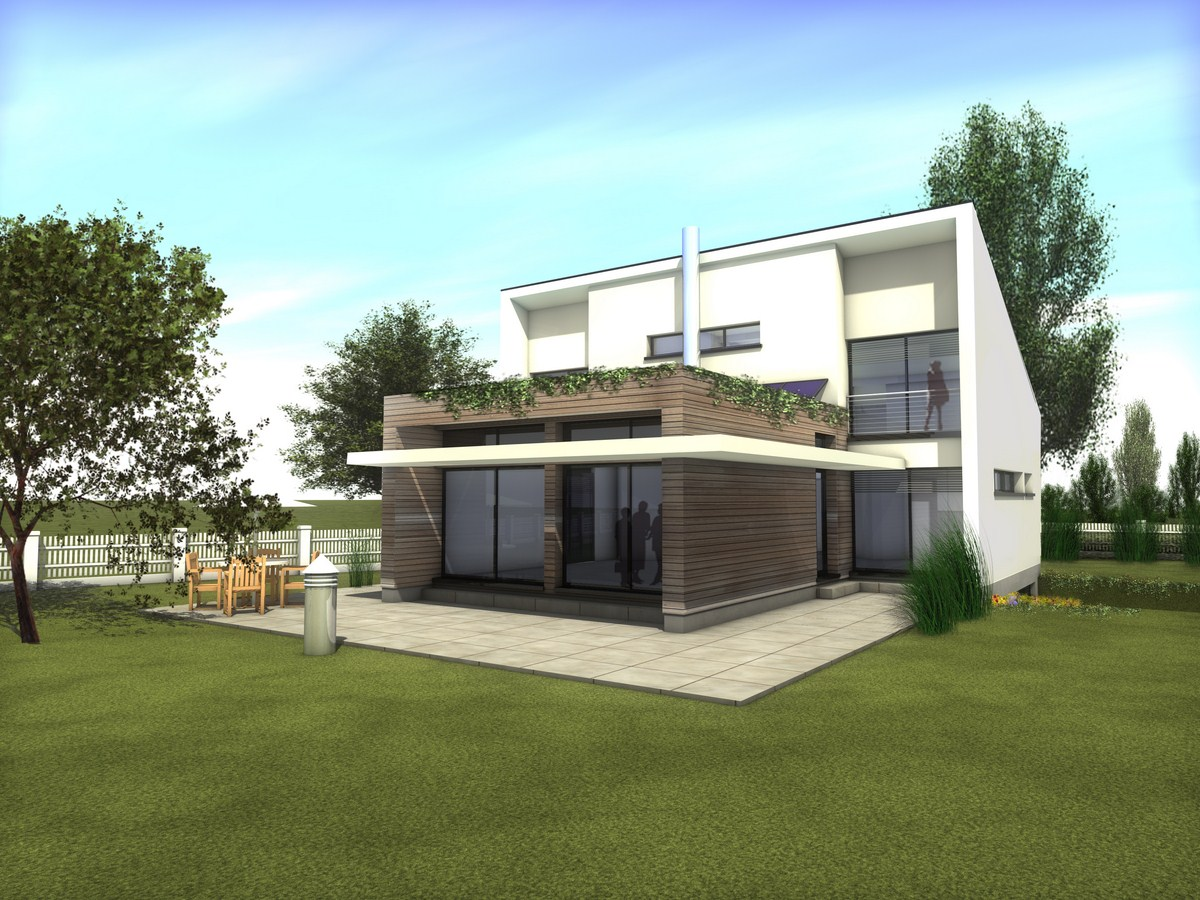 Plan maison contemporaine toit plat for Modele de maison contemporaine toit plat