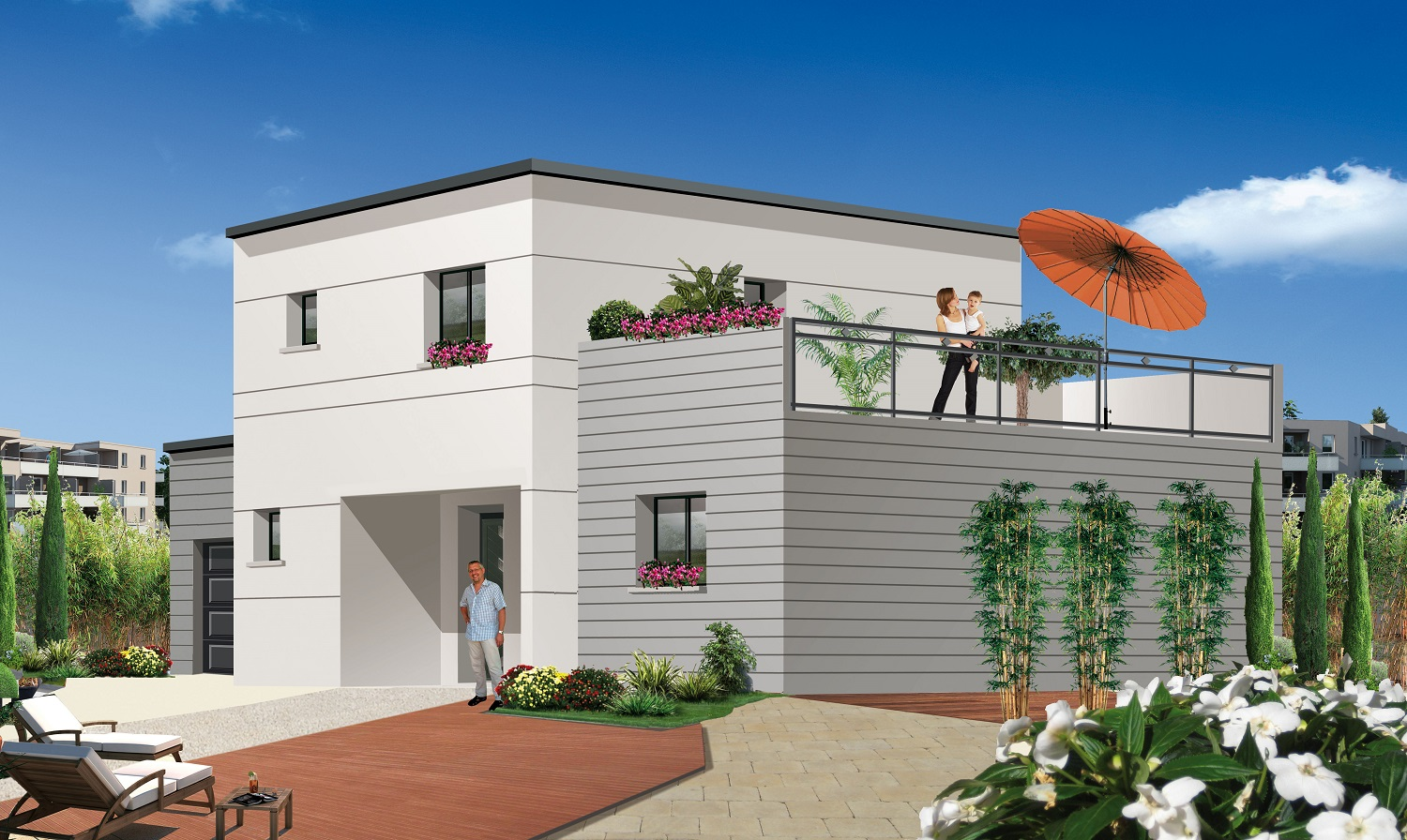 Mtlf constructeur compiegne oise for Construction maison contemporaine oise