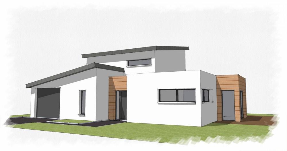 Sotradi constructeur - Constructeur maison contemporaine toit plat avec pasio ...