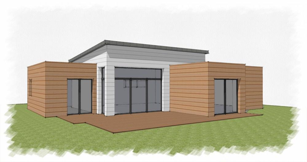 Sotradi constructeur for Petite maison contemporaine toit plat