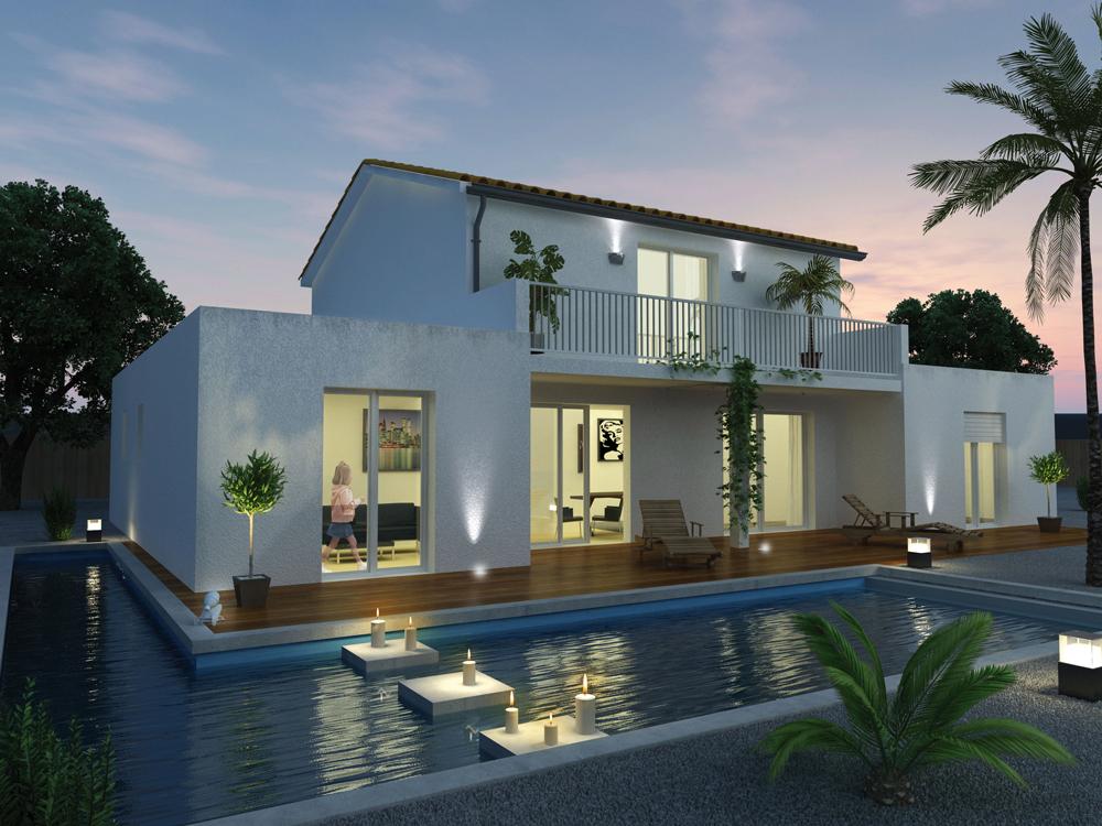 Villas et maisons de france constructeur for Modele maison en l