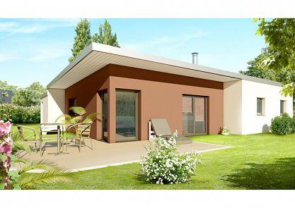 Maisons de plain pied Maisons écologiques Maisons contemporaines Maisons primo accédant Maisons à toit plat Plan maison toit terrasse Maisons aura