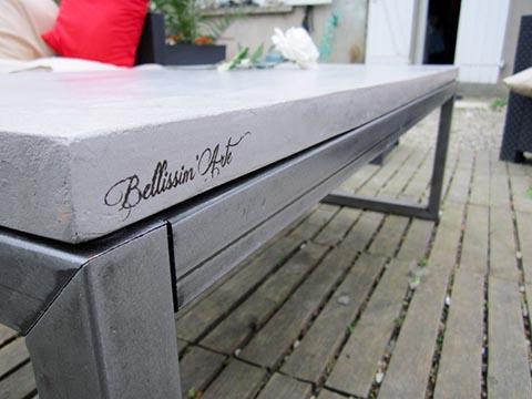 Plateau de table exterieur