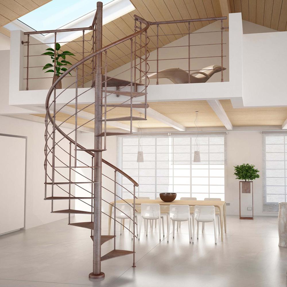 Les diff rents types d escaliers for Comescalier helicoidal acier