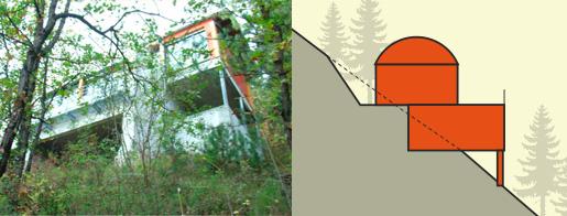 Construire votre maison sur un terrain en pente - Amenagement piscine terrain en pente aulnay sous bois ...